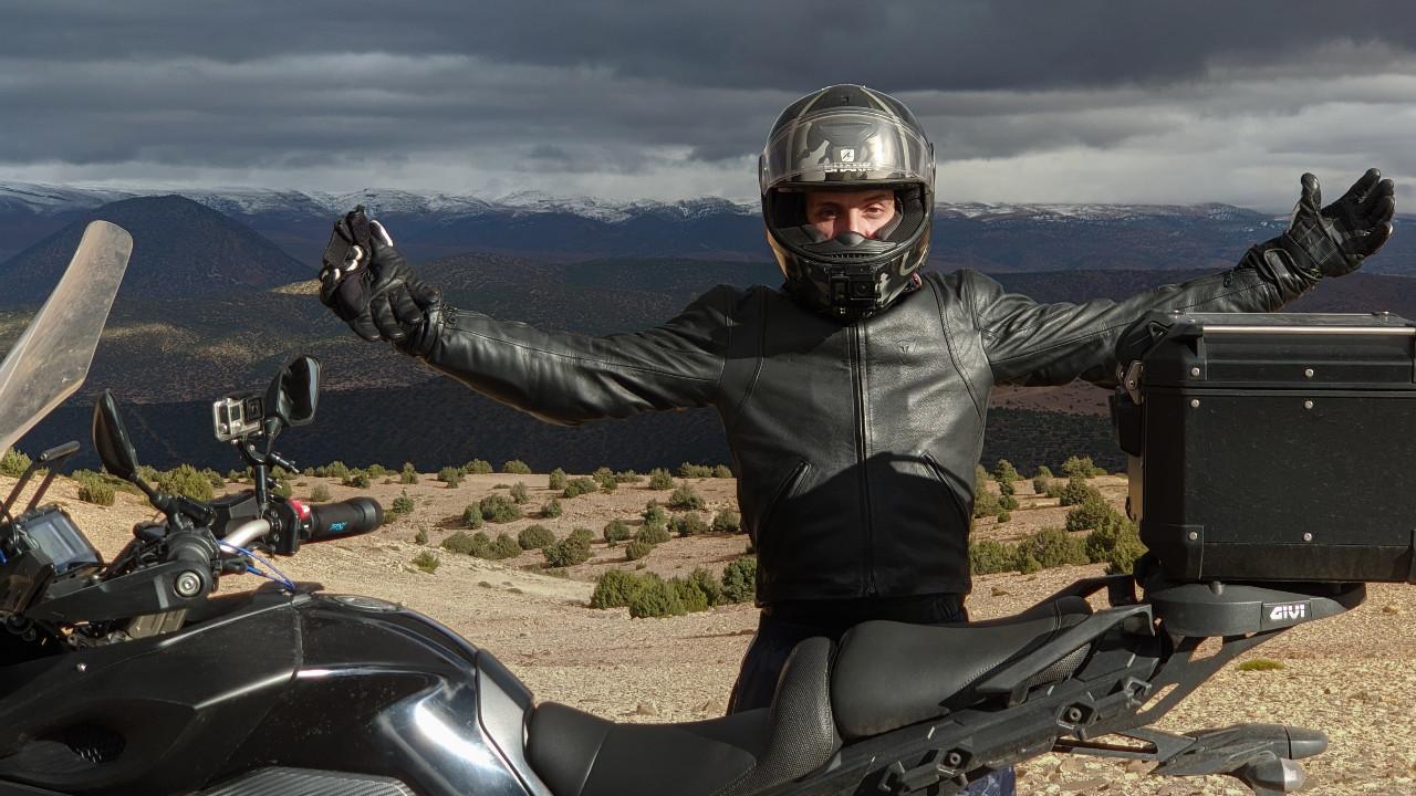 Un motovloggeur marocain