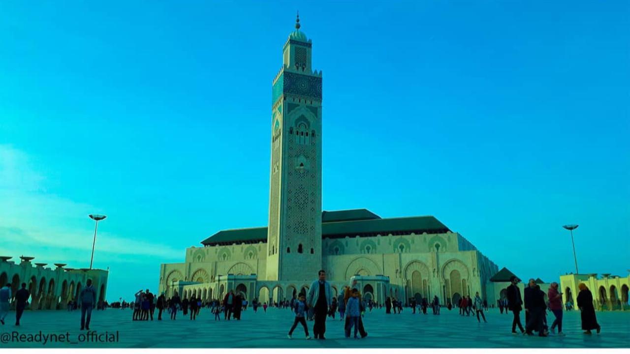 صورة ملتقطة في مسجد الحسن الثاني ، المغرب